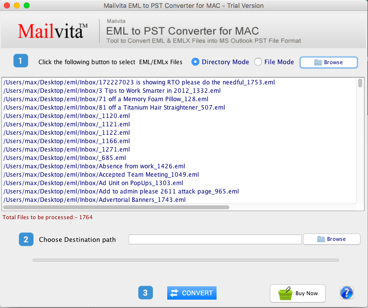 MailVita EML to PST Converter for Mac