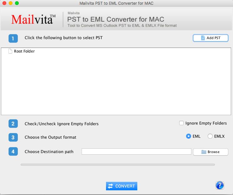 MailVita PST to EML Converter for Mac full screenshot