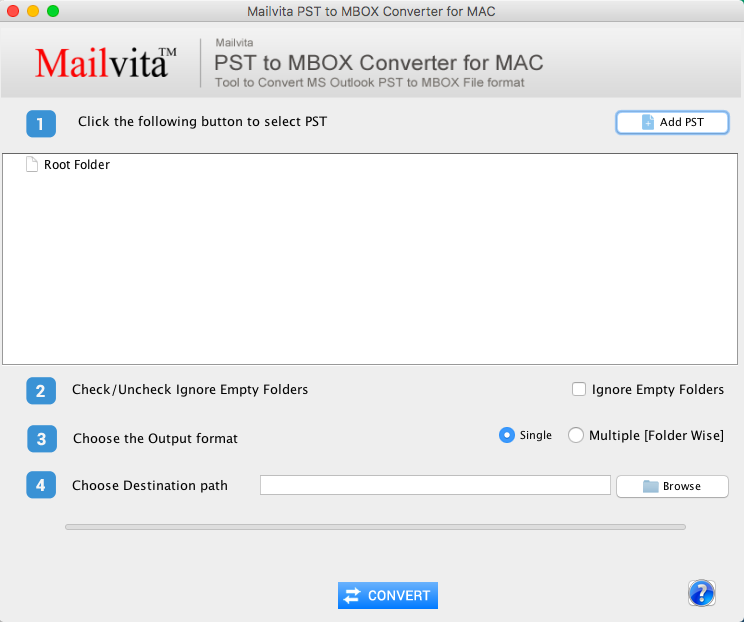 MailVita PST to MBOX Converter for Mac
