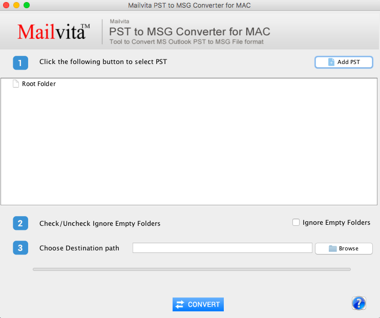 MailVita PST to MSG Converter for Mac